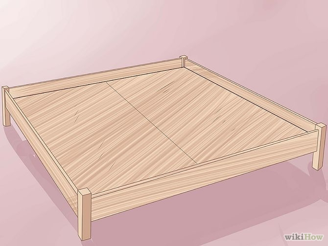 construirea unui pat din lemn How to build a wood frame bed 3