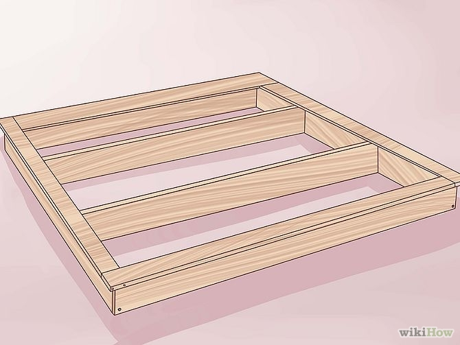 construirea unui pat din lemn How to build a wood frame bed 7