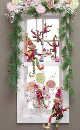 decorarea geamurilor de craciun Christmas window design ideas 24