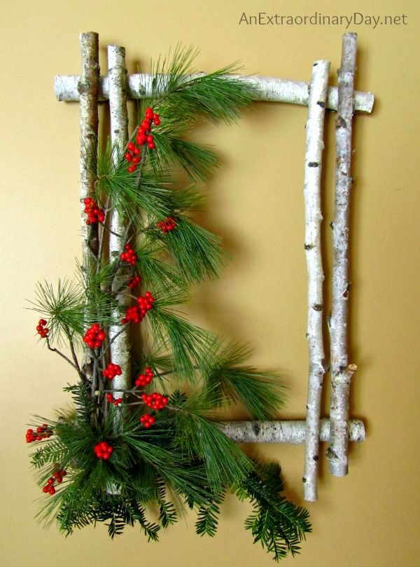 decoratiuni din crengi de brad Christmas fir branches decorations 17