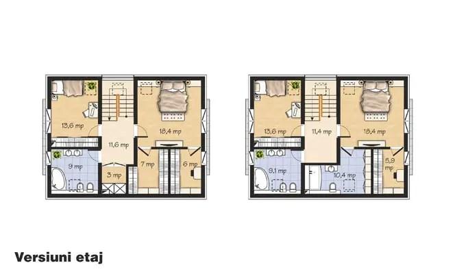 case cu etaj din lemn Houses with wood clad first floor 2