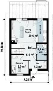 case cu etaj din lemn Houses with wood clad first floor 5