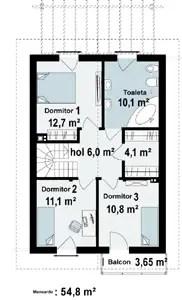case cu etaj din lemn Houses with wood clad first floor 6