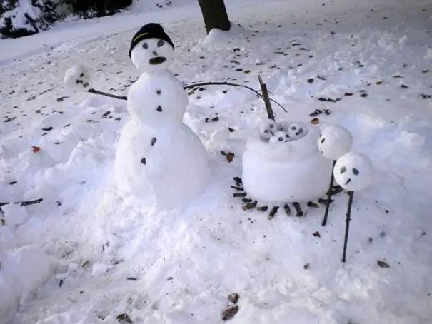 cei mai frumosi oameni de zapada Most creative snowmen 9