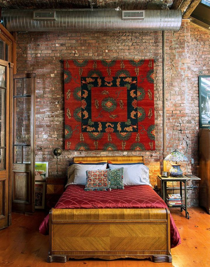 dormitoare cu pereti din caramida Bedrooms with brick walls 3