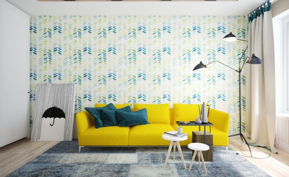Galbenul in design interior modern