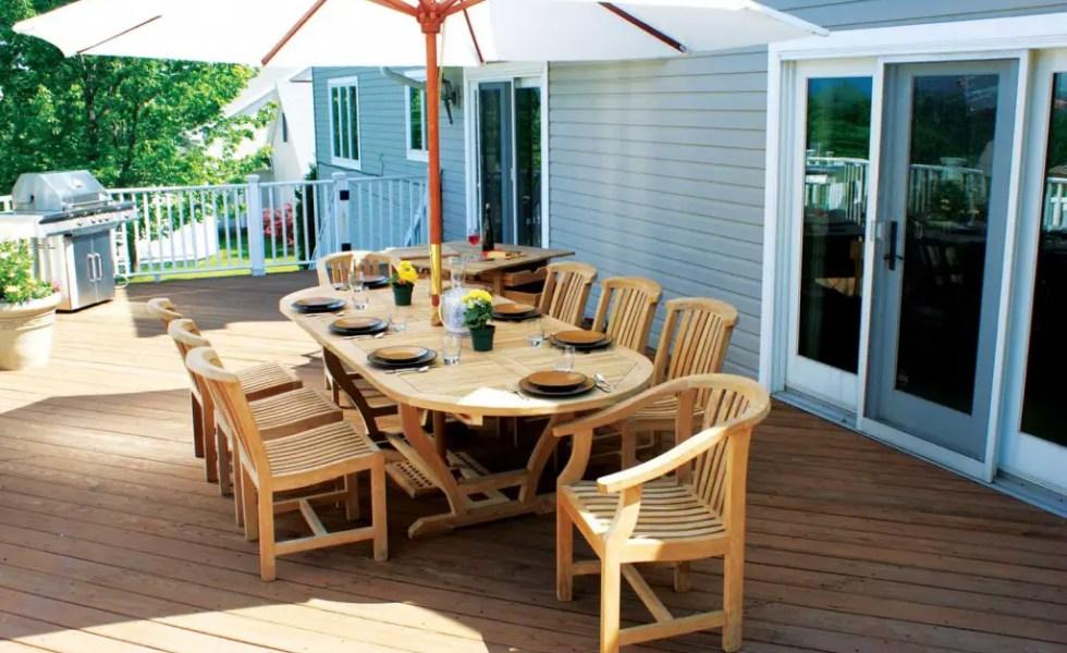 Mese din lemn pentru terase afara