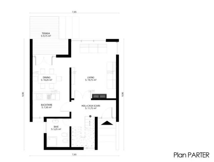 proiecte de case mici cu structura metalica Small steel frame house plans 3