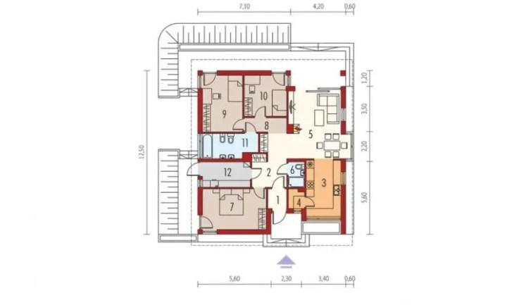 proiecte de case mici cu structura metalica Small steel frame house plans 7