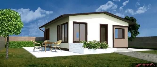 proiecte de case mici cu structura metalica Small steel frame house plans 9