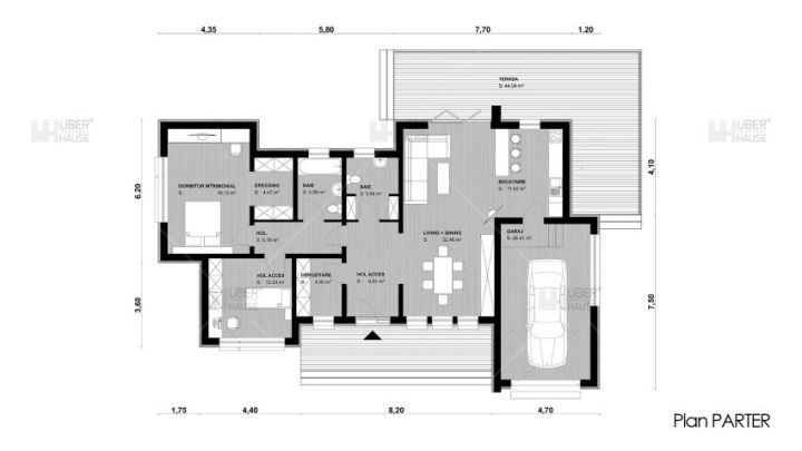 proiecte de case moderne pe un singur nivel Single level modern house plans 8