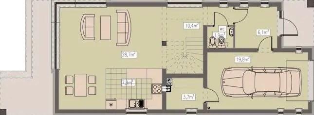 Proiecte de case pe teren cu deschidere mica narrow lot house plans 3