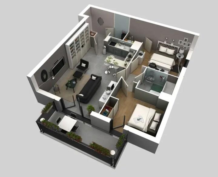 amenajarea unui apartament cu 3 camere 3 room apartment layouts 4