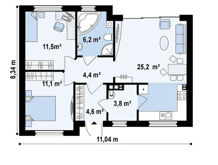 case ieftine pentru familii cu 2-3 membri Affordable homes for families of 2-3 8