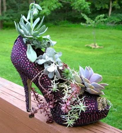 decoratiuni din pantofi shoe planters 5
