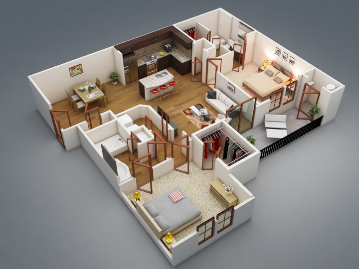 idei pentru amenajarea unui apartament cu 3 camere 3 room apartment layout ideas 1