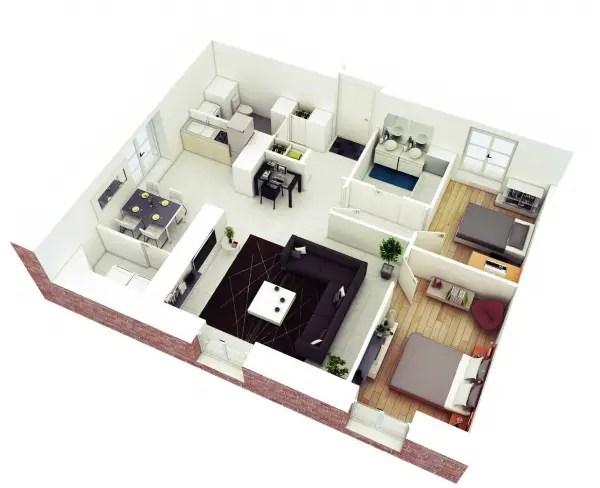 idei pentru amenajarea unui apartament cu 3 camere 3 room apartment layout ideas 3