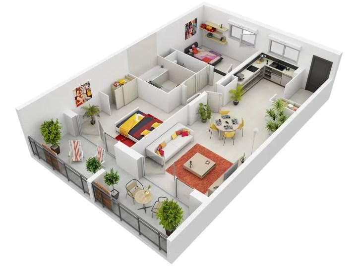 idei pentru amenajarea unui apartament cu 3 camere 3 room apartment layout ideas 5