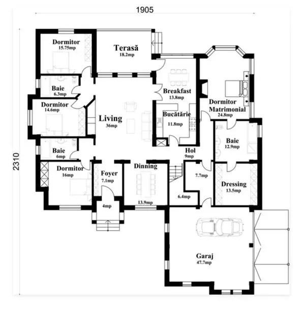 proiecte de case cu arcade arched house plans 11