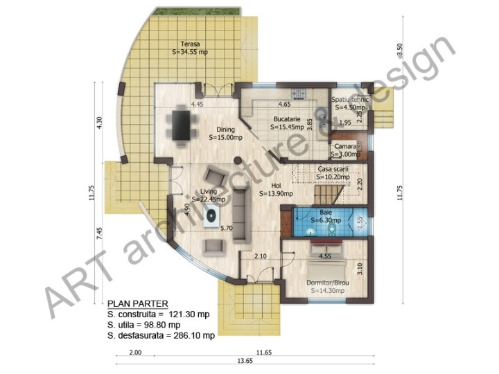 proiecte de case cu etaj si mansarda three story house plans 4