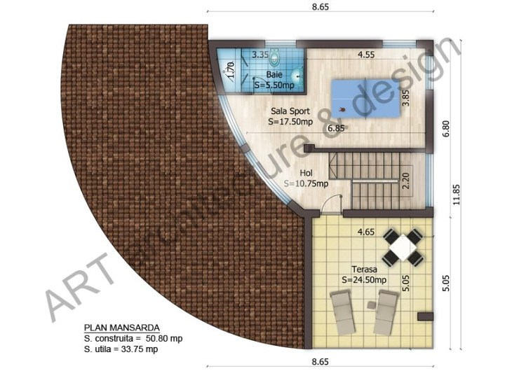proiecte de case cu etaj si mansarda three story house plans 6