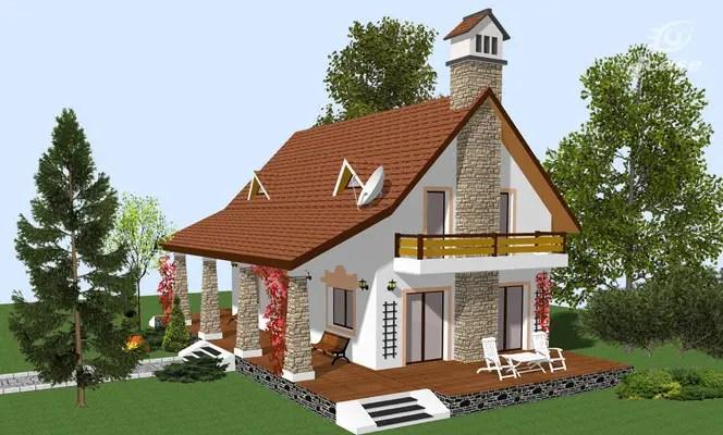 Proiecte de case cu mansarda cu patru camere spatiu for Proiecte case mici cu mansarda gratis