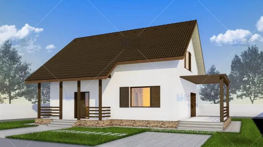 Proiecte de case mici cu terasa acoperita case practice for Proiecte case parter