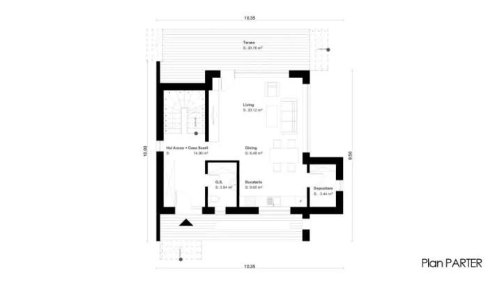 proiecte de case mici cu un etaj Two story small house plans 11