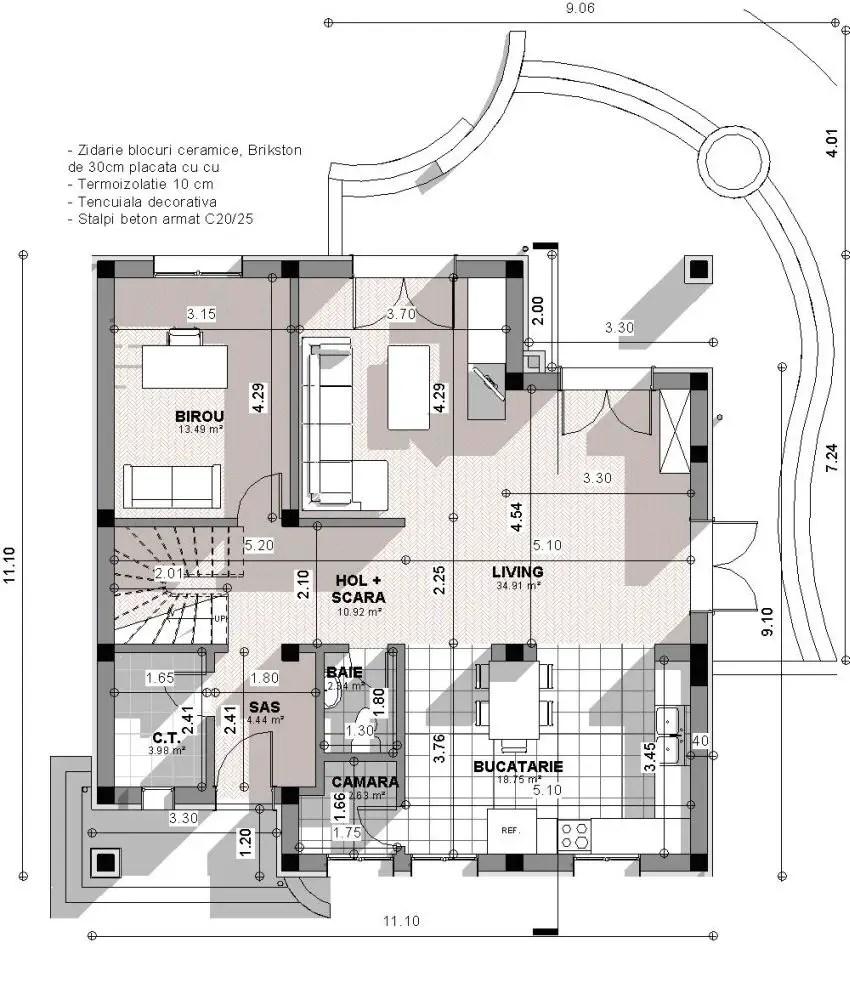 proiecte de case spatioase Spacious house plans 3