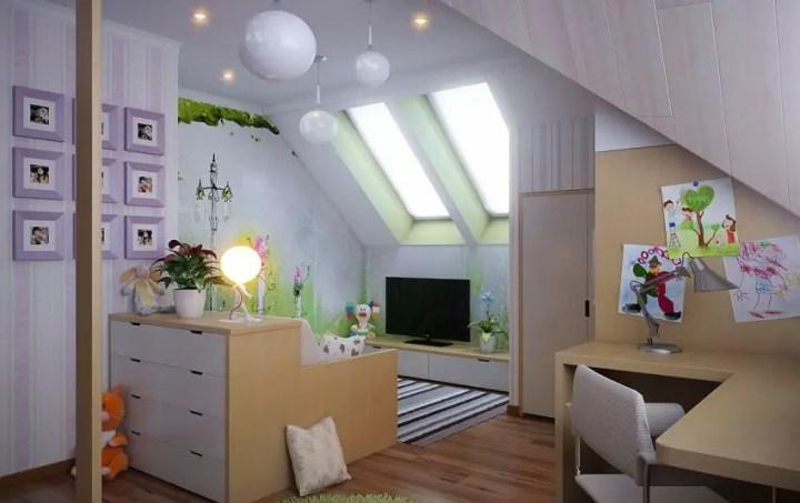 amenajarea unei mansarde mici small attic room design ideas 12
