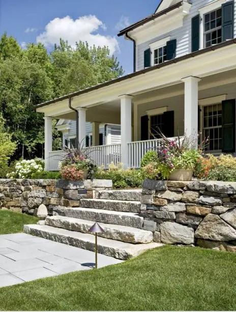 aranjamente de gradina cu pietre si flori Stone and flower garden design ideas 11