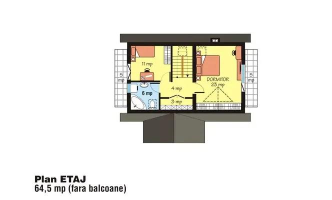 Case cu mansarda sub 150 de metri patrati case practice - Attic houses undersquare meters ...