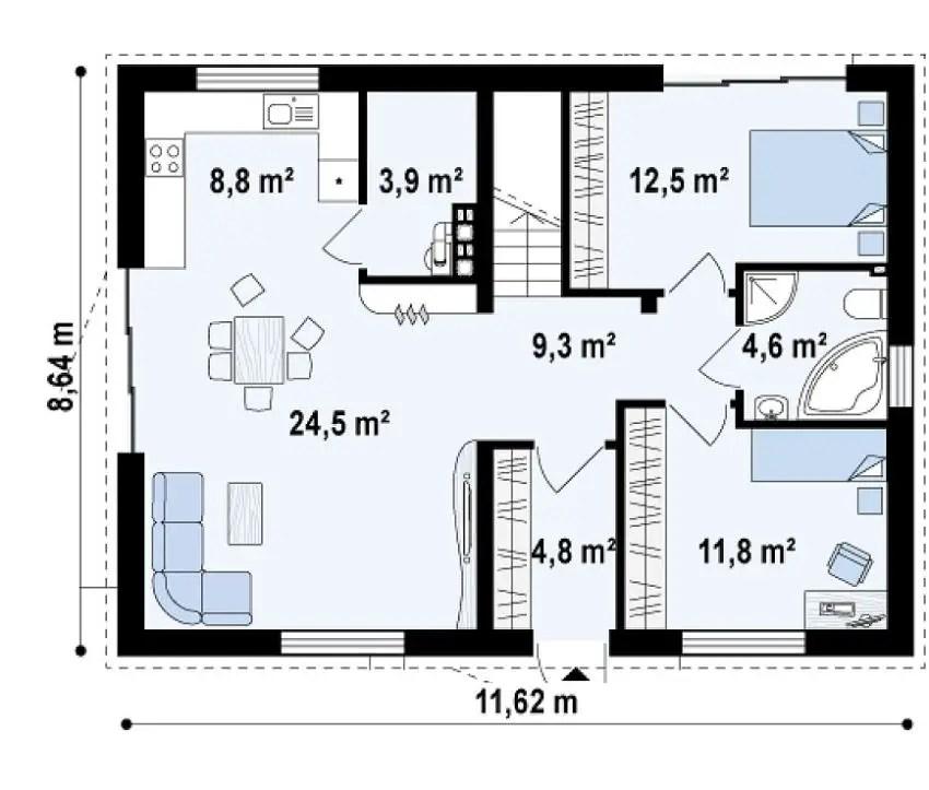 Case de vis fara etaj tot ce va doriti case practice for Proiect casa 100 mp fara etaj