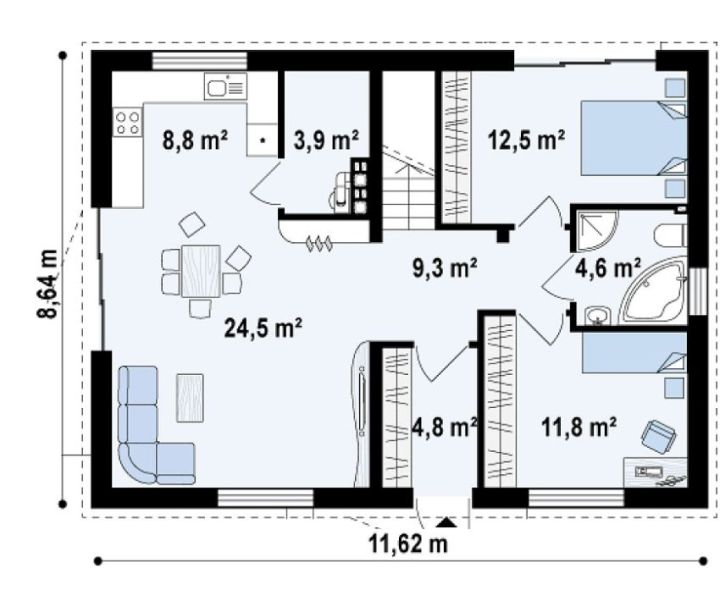 case de vis fara etaj Beautiful one story house plans 7
