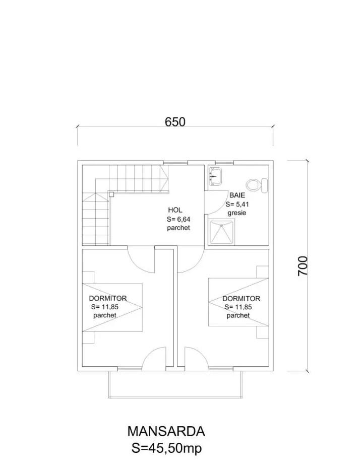case din barne de lemn masiv Solid wood house plans 13