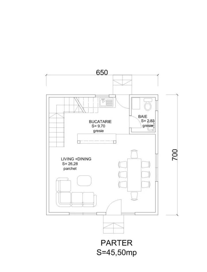 case din barne de lemn masiv Solid wood house plans 14