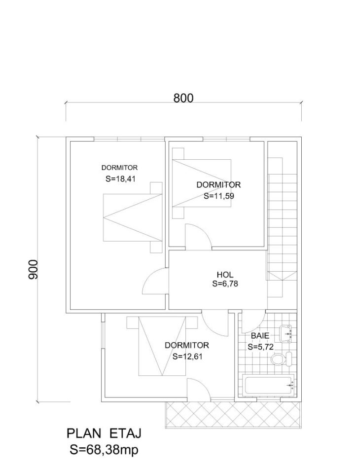 case din barne de lemn masiv Solid wood house plans 16