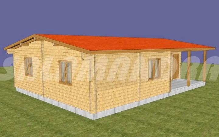 case din barne de lemn masiv Solid wood house plans 4
