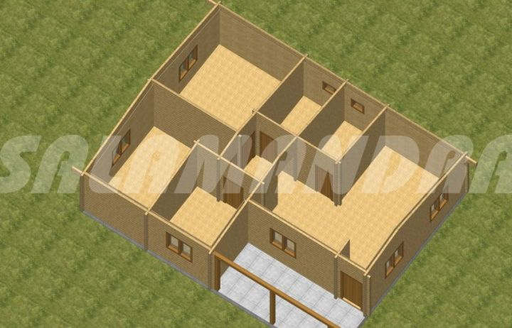 case din barne de lemn masiv Solid wood house plans 5