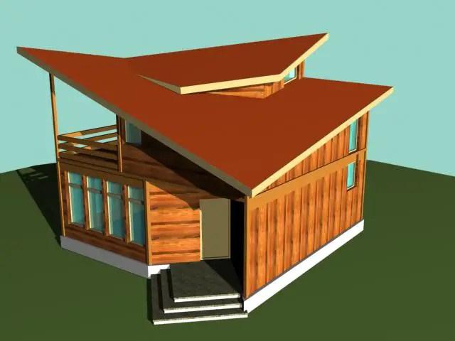 Case din barne de lemn masiv - design modern, expresiv