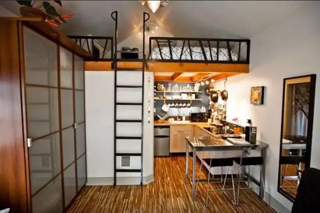 Case facute din garaje - spatii mici, dar complet functionale