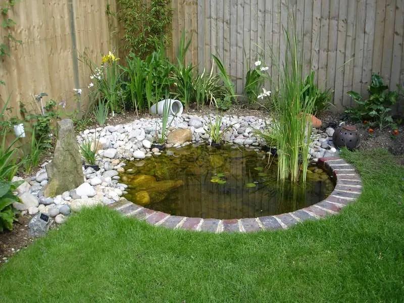 15 Charming Garden Pond Design Ideas - Houz Buzz on Landscape Pond Design id=84459