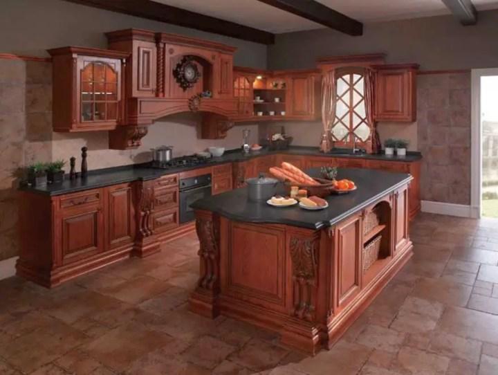 mobila de bucatarie din lemn masiv Solid wood kitchen cabinets 3
