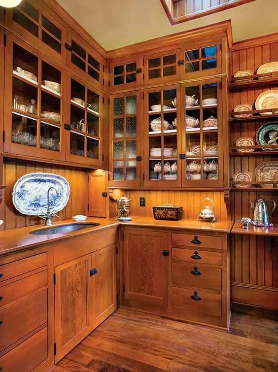 mobila de bucatarie din lemn masiv Solid wood kitchen cabinets 6