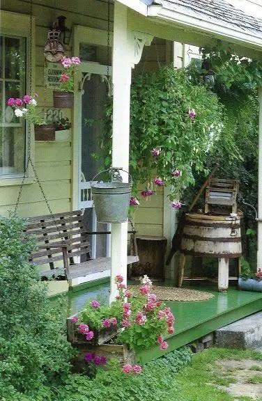 modele de balansoare de gradina Wooden garden swing ideas 7