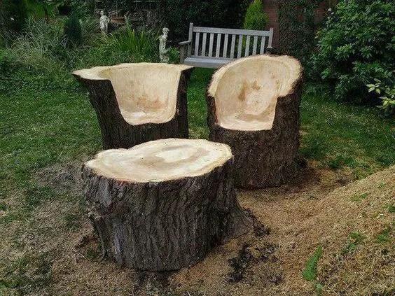 ornamente de gradina din lemn rotund Garden log decorations 10