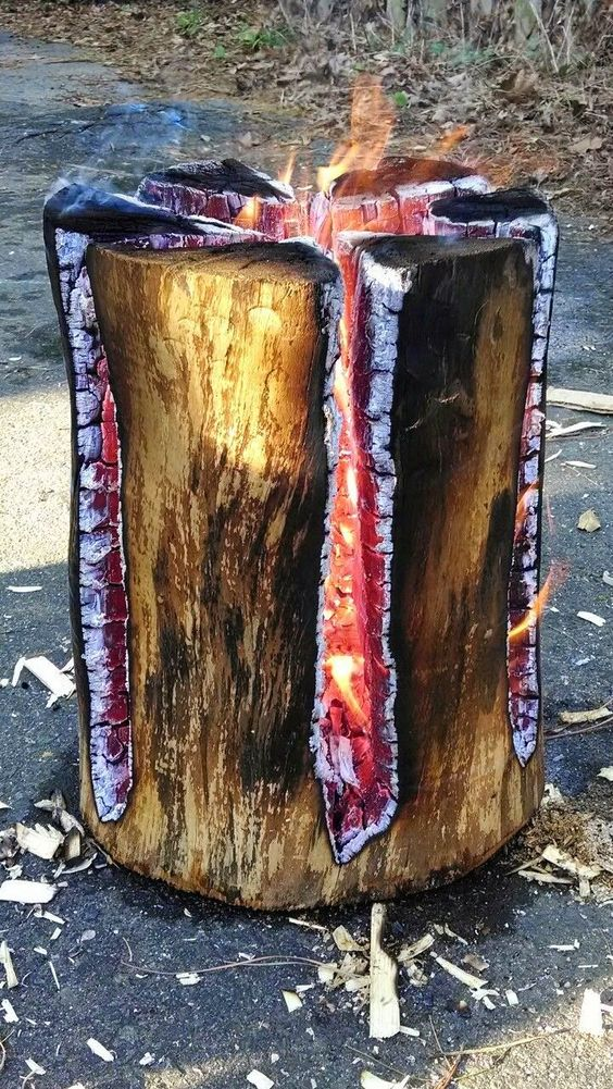 Ornamente de gradina din lemn rotund natural