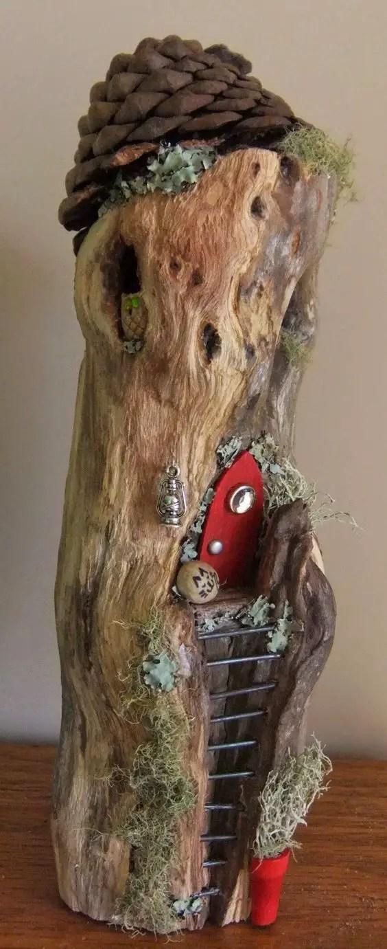 ornamente de gradina din lemn rotund Garden log decorations 2