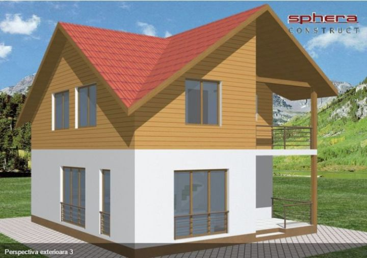 proiecte de case cu mansarda sub 100 de metri patrati Attic houses under 100 square meters 13