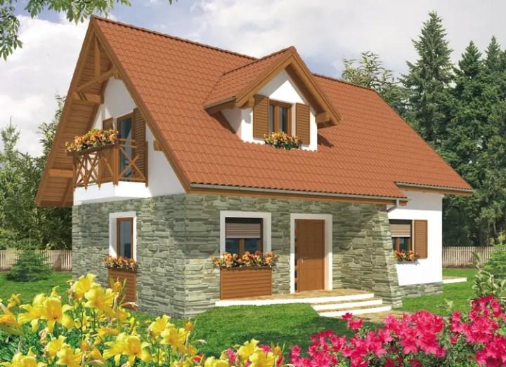 Proiecte de case cu mansarda sub 100 de metri patrati